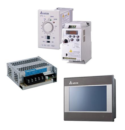 製品写真:AC モータドライブ、インバータ、オープンフレーム電源/HMIヒューマン・マシーン・インターフェイス