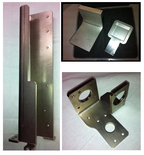 製品写真:切削加工レス・金型加工レスによる、高精度板金加工。