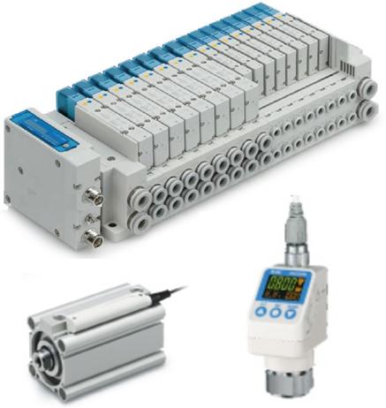 製品写真:LESH IO-Link対応 SIユニット・3画面高精度デジタル圧力スイッチ