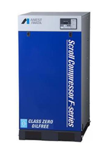 製品写真:耐熱被膜処理採用 オイルフリースクロールコンプレッサ SLP-Fシリーズ