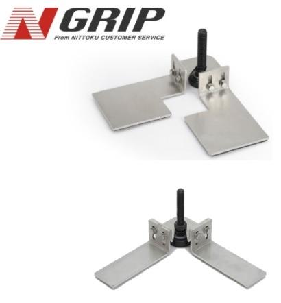製品写真:耐震用アジャスター取付金具 N-Grip
